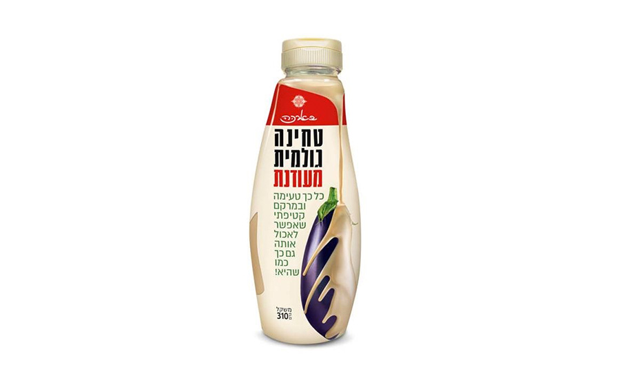 A Tahini squeeze bottle